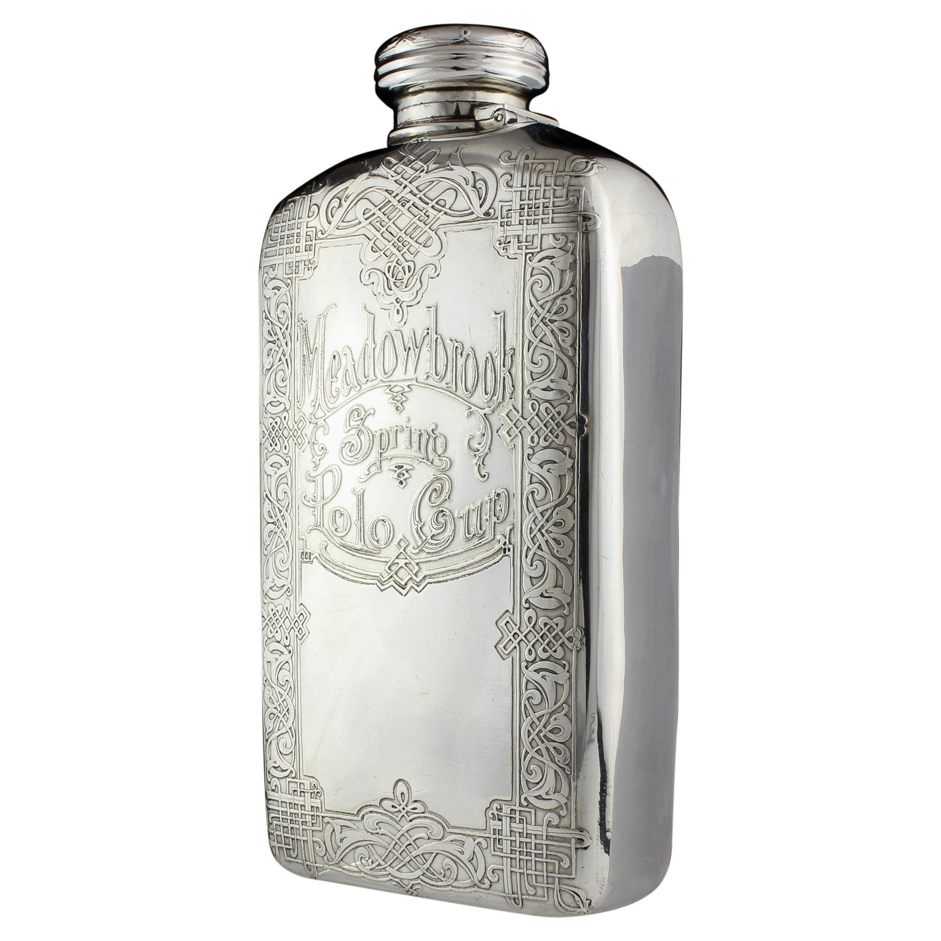 Tiffany & Co. Antique Sterling Silver Spirit Flask, Circa 1900