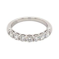 Tiffany & Co. Apx 0.60 Carat Diamond Half Eternity Band Platinim