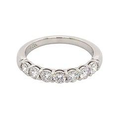 Tiffany & Co. Apx 0.60 Carat Diamond Half Eternity Band Platinum
