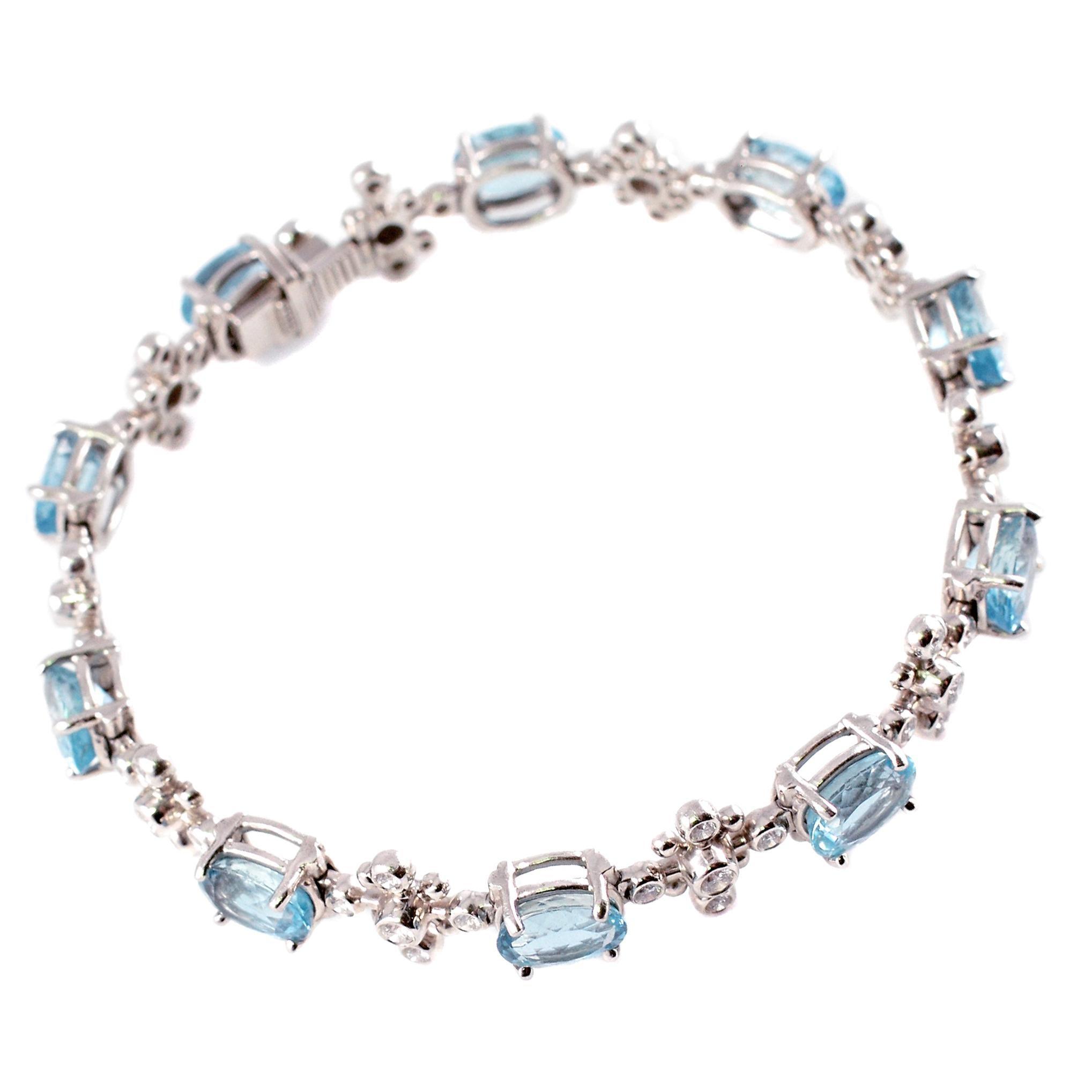 1327371d1f02f Tiffany & Co. Aquamarine Diamond Bracelet from the