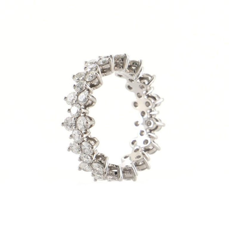 Round Cut Tiffany & Co. Aria Eternity Band Ring Platinum and Diamonds For Sale