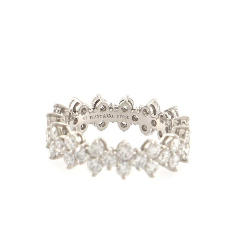 Tiffany & Co. Aria Eternity Band Ring Platinum and Diamonds In Good Condition For Sale In New York, NY