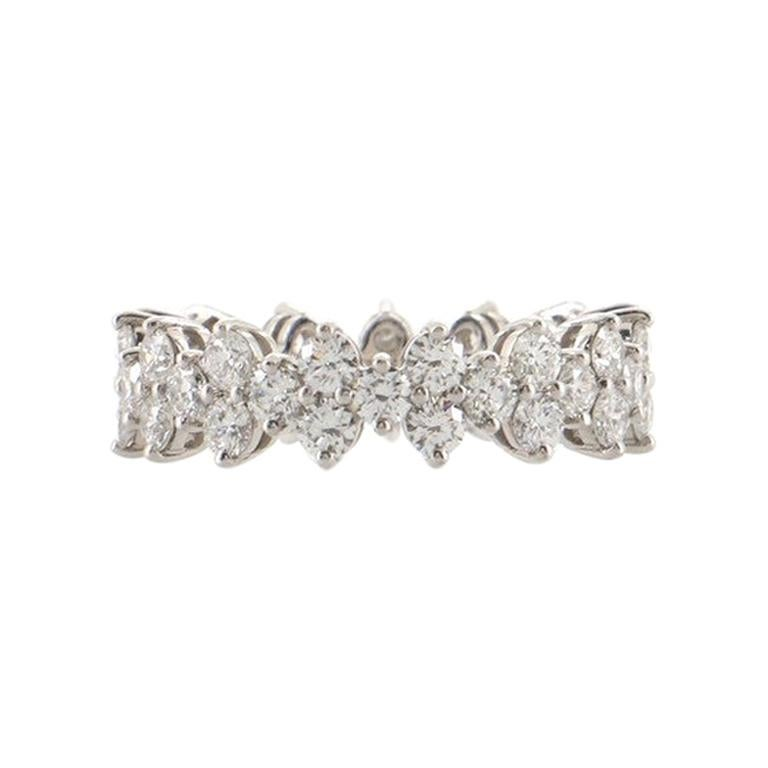 Tiffany & Co. Aria Eternity Band Ring Platinum and Diamonds For Sale