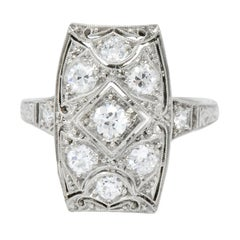 Tiffany & Co. Art Deco 0.40 Carat Diamond Platinum Dinner Ring