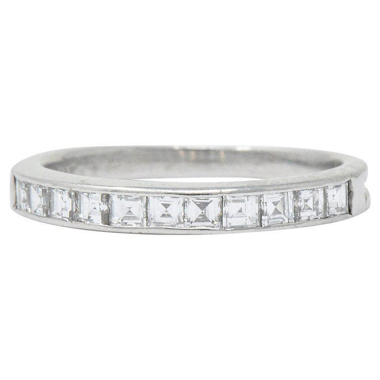 a55e48953 Tiffany & Co. Art Deco 0.55 Carat Diamond Platinum Stackable Band Ring For  Sale