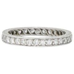 Tiffany & Co. Art Deco 0.64 CTW Diamond And Platinum Eternity Band