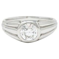 Tiffany & Co. Art Deco 1.50 Carats Diamond Platinum Men's Engagement Ring