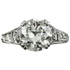 Tiffany & Co. Art Deco 3.27 Carat Diamond Engagement Ring, GIA I VS1