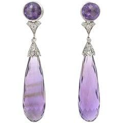 Tiffany & Co. Art Deco Amethyst Earrings
