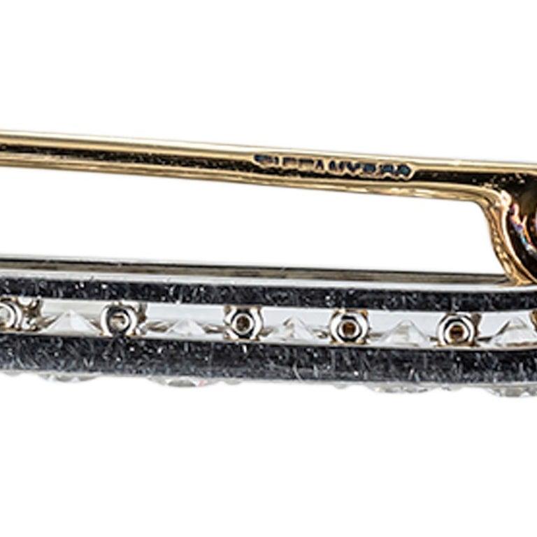 Tiffany & Co. Art Deco Diamond Platinum Brooch For Sale 1