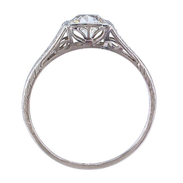 Tiffany & Co. Art Deco Diamond Platinum Engagement Ring For Sale 2
