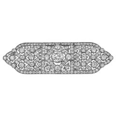 Tiffany & Co. Art Deco Diamond Platinum Gold Bar Brooch