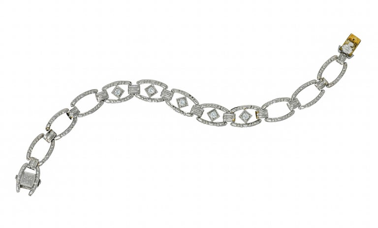Tiffany & Co. Art Deco Diamond Platinum Link Bracelet For Sale 1