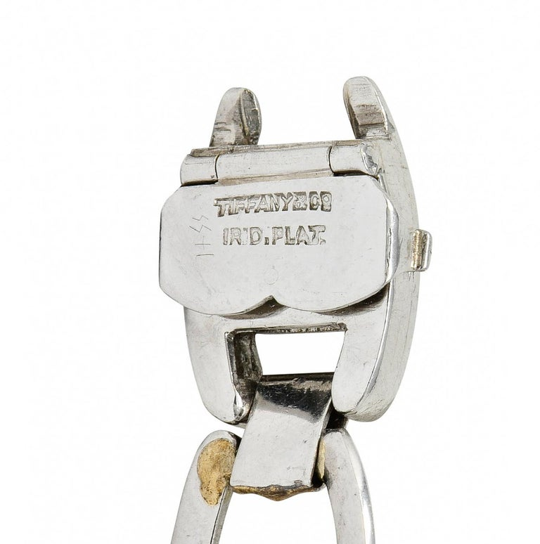 Tiffany & Co. Art Deco Diamond Platinum Link Bracelet For Sale 2