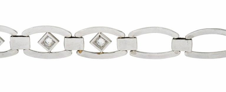 Tiffany & Co. Art Deco Diamond Platinum Link Bracelet For Sale 4