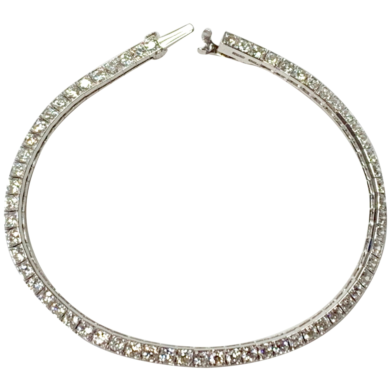 Tiffany & Co. Art Deco Diamond Straight Line Bracelet in Platinum
