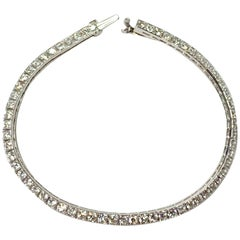 Tiffany & Co. Art Deco Diamond Straight Line Bracelet in Platinum