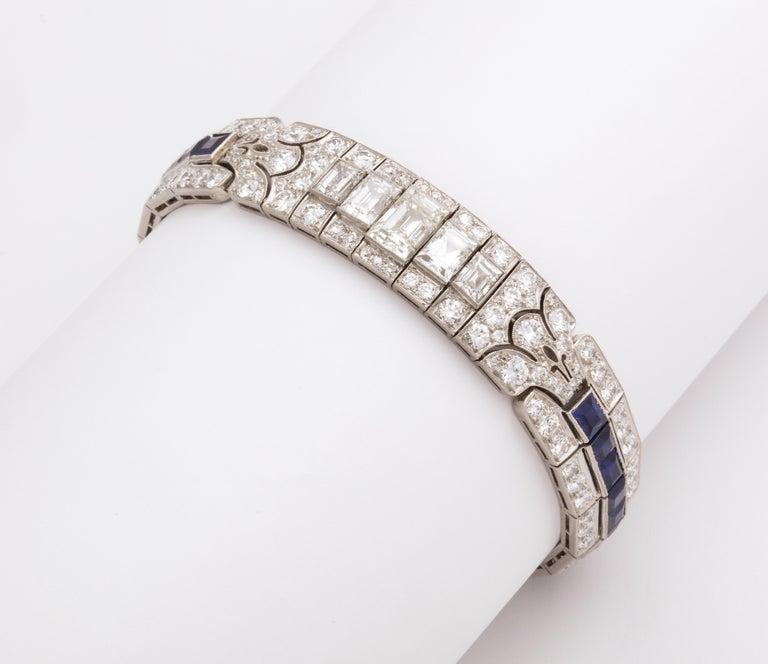 Tiffany & Co Art Deco Sapphire and Diamond Bracelet For Sale 5