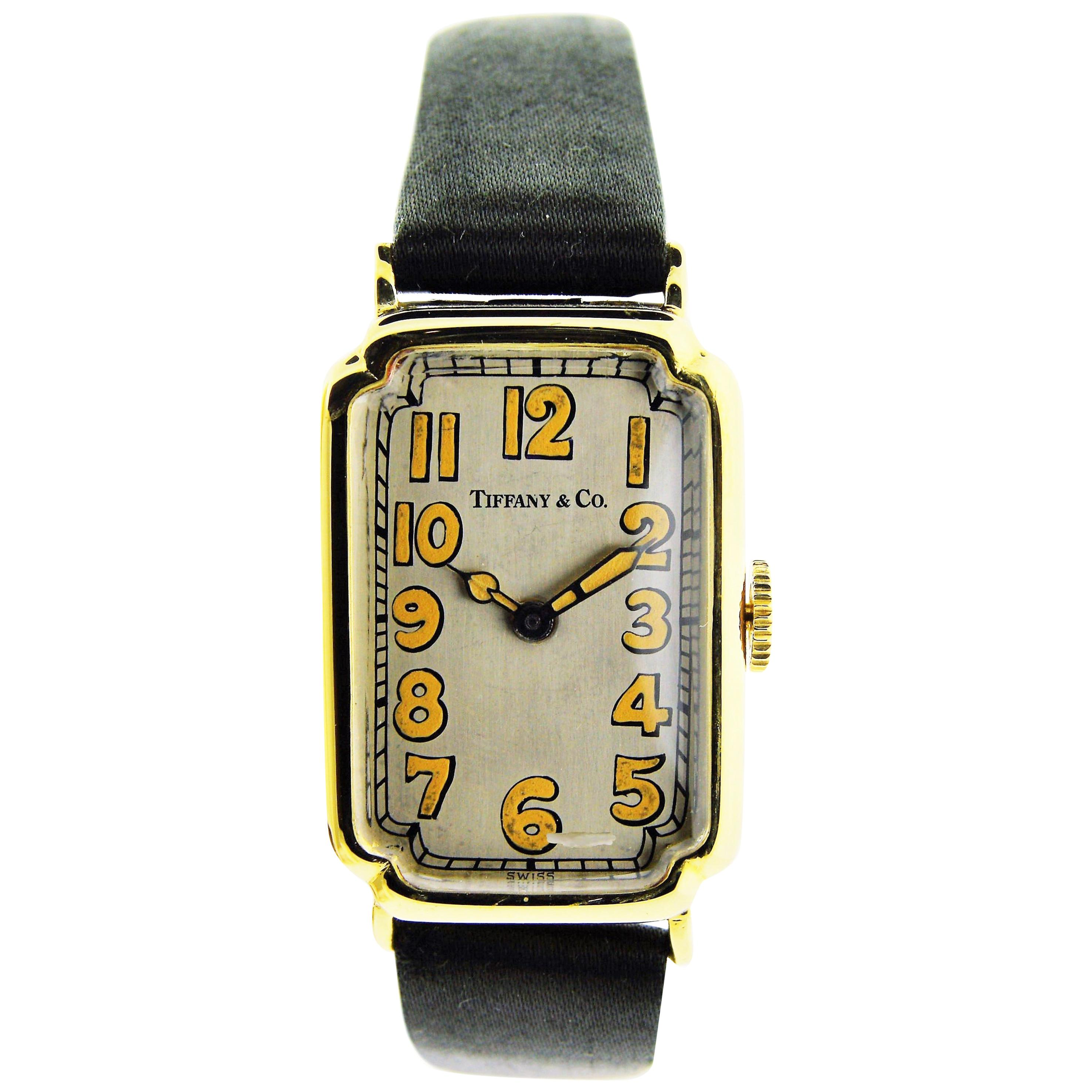 Tiffany & Co. Art Deco Yellow Gold Manual Wind Watch, circa 1930s