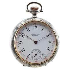 Tiffany & Co. Art Nouveau Open Faced High Grade Pocket Watch, circa 1900s
