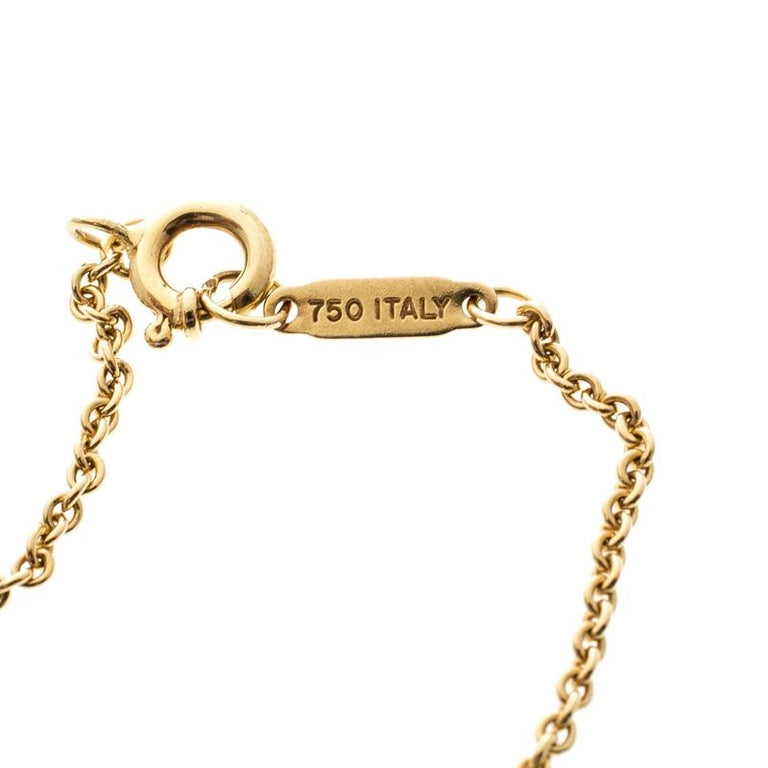 a7f80638dada0 Tiffany & Co. Atlas 18k Yellow Gold Round Pendant Necklace