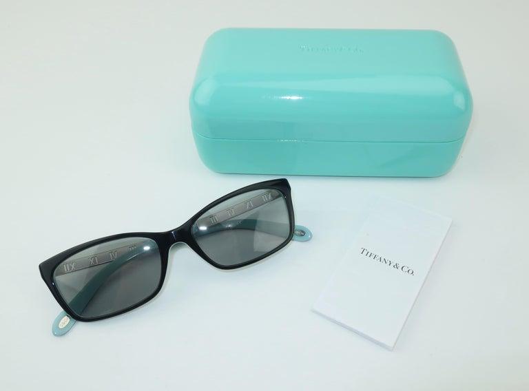 Tiffany & Co. Atlas Black & Blue Sunglasses For Sale 6
