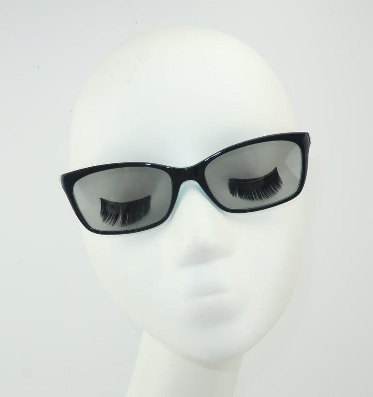 Gray Tiffany & Co. Atlas Black & Blue Sunglasses For Sale