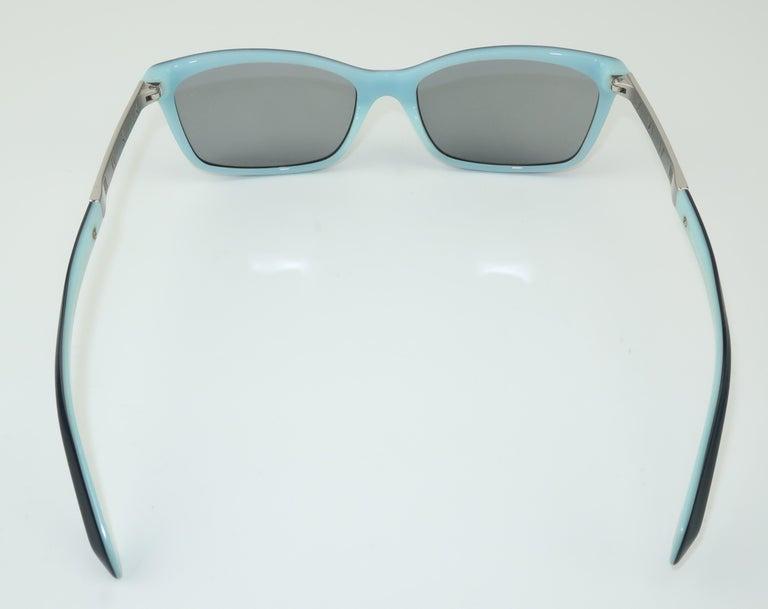 Tiffany & Co. Atlas Black & Blue Sunglasses For Sale 1