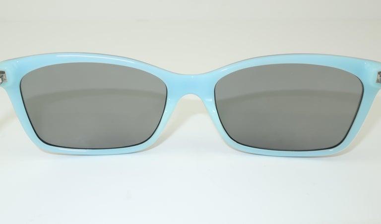 Tiffany & Co. Atlas Black & Blue Sunglasses For Sale 2