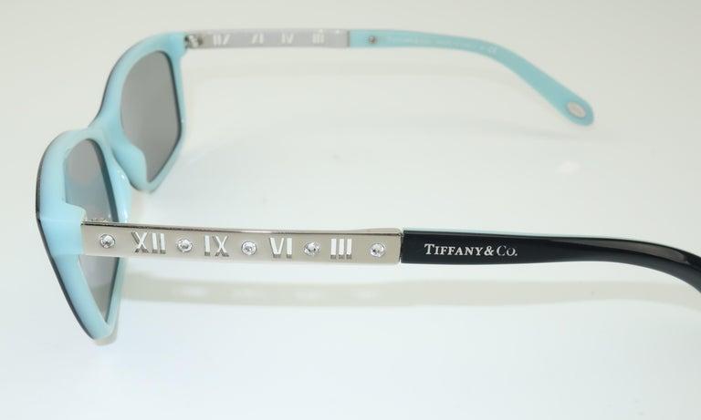 Tiffany & Co. Atlas Black & Blue Sunglasses For Sale 3