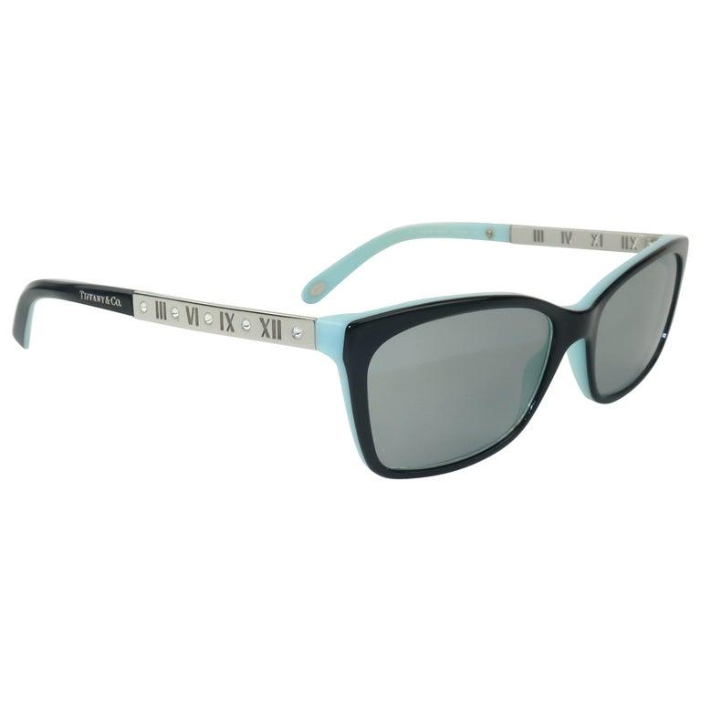 Tiffany & Co. Atlas Black & Blue Sunglasses For Sale