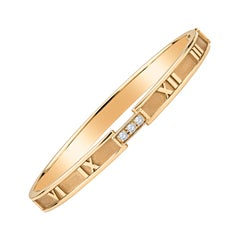 Tiffany & Co. Atlas Bracelet, 18k Rose Gold with 0.15ctw Round Diamonds