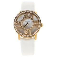 Tiffany & Co. Atlas Cocktail Round Quartz Watch Yellow Gold with Diamonds