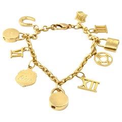 Tiffany & Co. Atlas Collection 18 Karat Yellow Gold Charm Bracelet