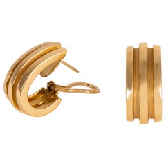 Tiffany & Co. Atlas Collection Classic Gold Earrings