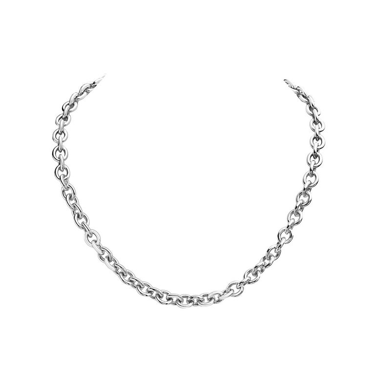 Tiffany & Co. Atlas Collection Link Toggle Necklace In Excellent Condition For Sale In New York, NY