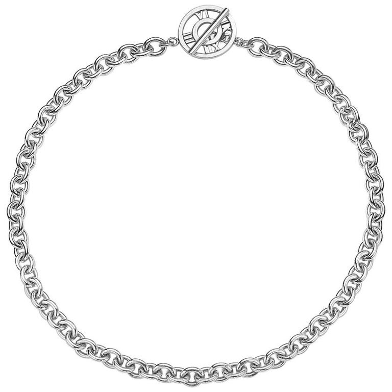 Tiffany & Co. Atlas Collection Link Toggle Necklace For Sale