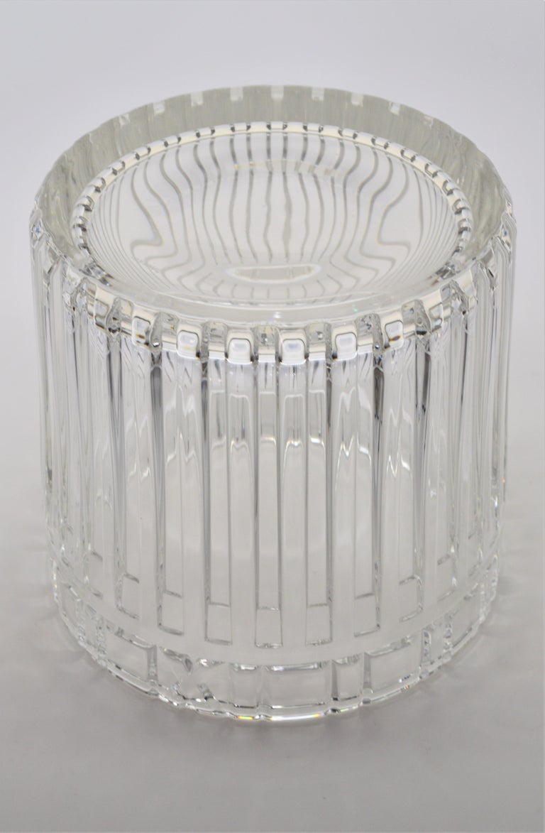 Tiffany & Co. Atlas Crystal Glass Champagne Ice Cooler Bucket For Sale 2