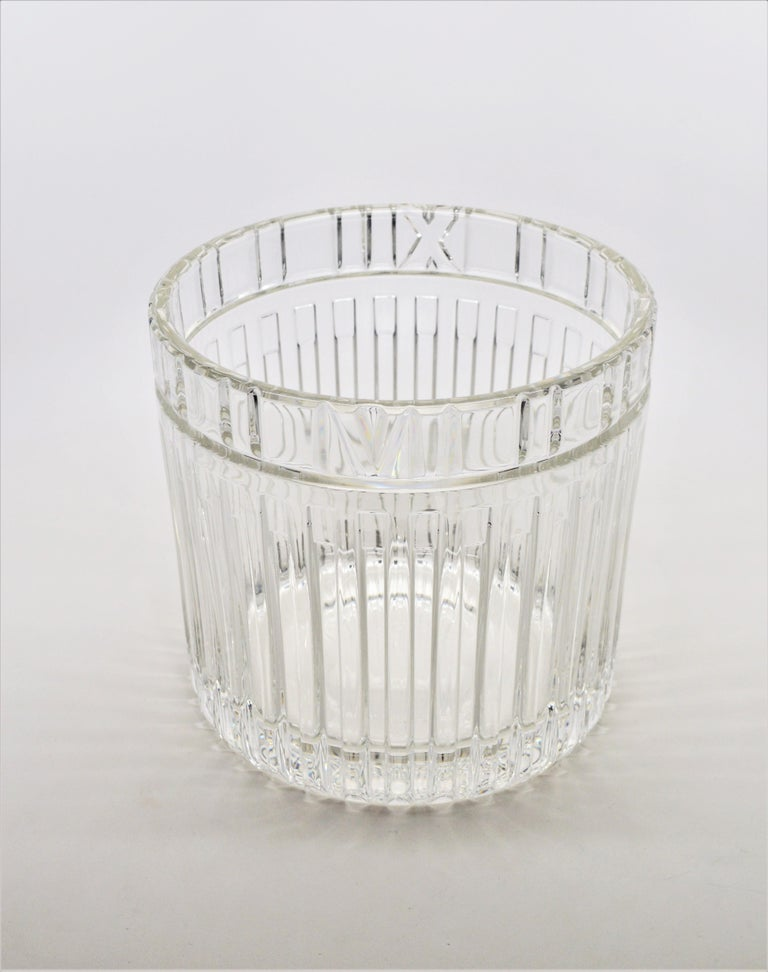 Tiffany & Co. Atlas Crystal Glass Champagne Ice Cooler Bucket For Sale 3