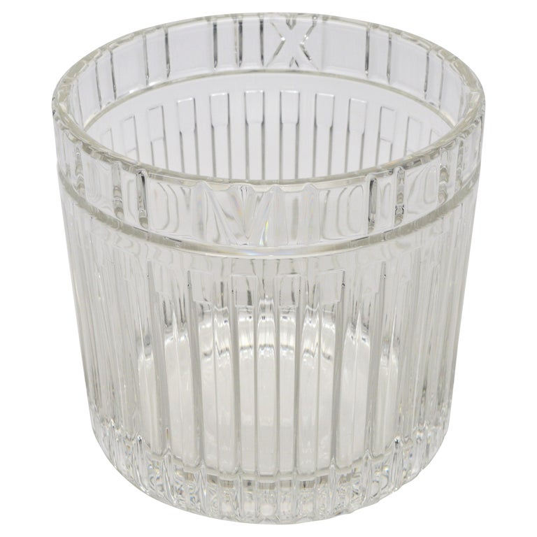 Tiffany & Co. Atlas Crystal Glass Champagne Ice Cooler Bucket For Sale