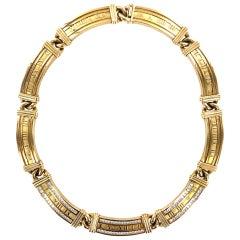 Tiffany & Co. Atlas Diamond 18 Karat Yellow Gold Necklace