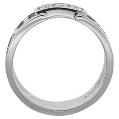 Tiffany & Co. Atlas Diamond 18K White Gold Ring Size 54