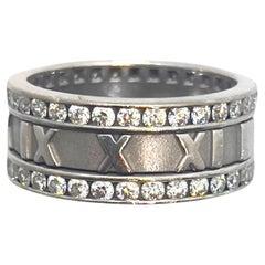 Tiffany & Co. Atlas Diamond Ring 18 Karat White Gold