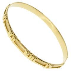 Tiffany & Co. Atlas 18 Karat Yellow Gold Bangle 20cm