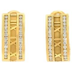 Tiffany & Co. Atlas Numeric 18 Carat Gold Earrings