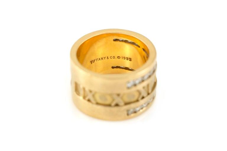 Round Cut Tiffany & Co. Atlas Numeric Diamond Ring For Sale
