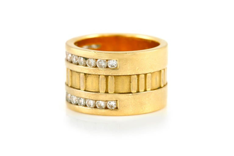 Tiffany & Co. Atlas Numeric Diamond Ring In Excellent Condition For Sale In New York, NY