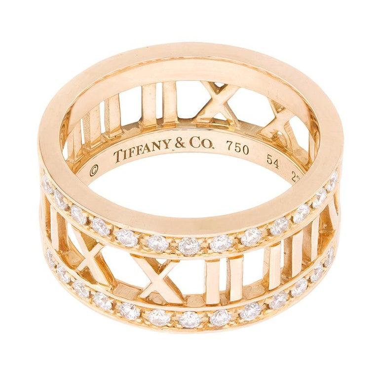 Women's or Men's Tiffany & Co. Atlas Open Diamond Ring