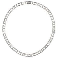 Tiffany & Co. Atlas Open Hinged Roman Numeral Necklace