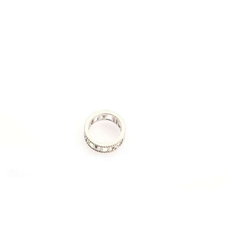 Tiffany & Co. Atlas Open Ring 18K White Gold and Diamonds For Sale 1